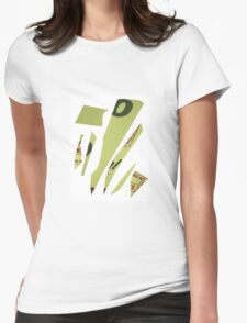 abstract green Womens Fitted T-Shirt
