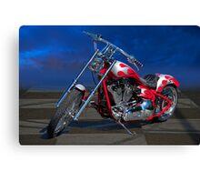 H.D. MotoWorx Custom Motorcycle 3 Canvas Print