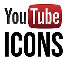 YouTube Icons logo Photographic Print