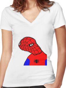 Spodermen Women's Fitted V-Neck T-Shirt