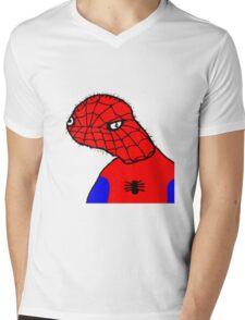 Spodermen Mens V-Neck T-Shirt