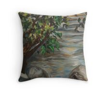 Saluda River by Gervais Throw Pillow