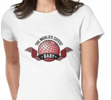 The World's Cutest Baby (Girl / Red) Womens Fitted T-Shirt