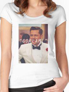 Inglourious Basterds 'Gorlami' Brad Pitt T-Shirt Women's Fitted Scoop T-Shirt