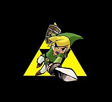 Sleek Black iPhone 5/5s Case ft. Toon Link & The Triforce  by HyruLOOP