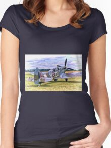 Supermarine Spitfire T9 Women's Fitted Scoop T-Shirt