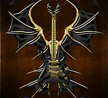Black Dream Gothic Guitar  by Bluesax
