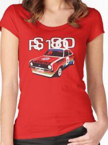 Ford Escort Mk2 Rally Car Women's Fitted Scoop T-Shirt