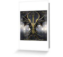 Black Gothic Guitar  Greeting Card