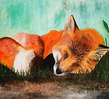 Sleeping fox by lillea-mira