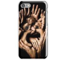 A Face within Working Hands iPhone Case/Skin
