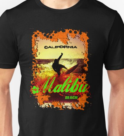 Malibu Beach Surfer Unisex T-Shirt
