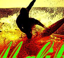 Malibu Beach Surfer Sticker