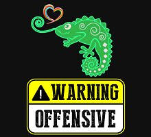 Warning Offensive Womens Fitted T-Shirt