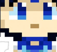 Sailor Mercury Pixels Sticker