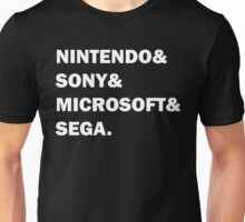 Nintendo&Sony&Microsoft&Sega. Unisex T-Shirt