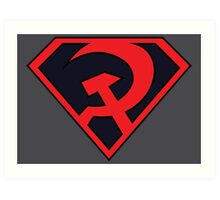 Red Son - Superman Art Print