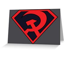 Red Son - Superman Greeting Card