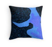 Blue Paint Throw Pillow