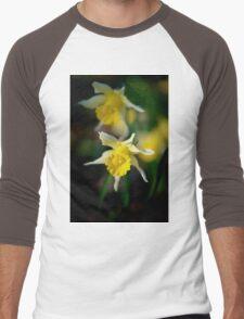 wild daffodils Men's Baseball ¾ T-Shirt