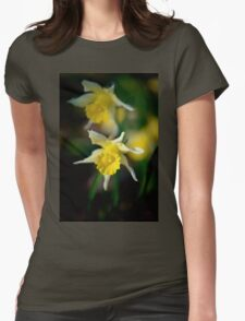 wild daffodils Womens Fitted T-Shirt