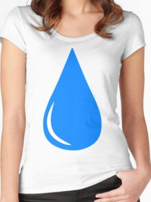 Water Droplet Women's Fitted Scoop T-Shirt