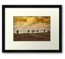 gone are our days of happiness.... Framed Print