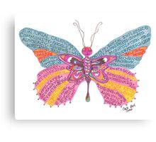 Butterfly Blogger Original Art Canvas Print