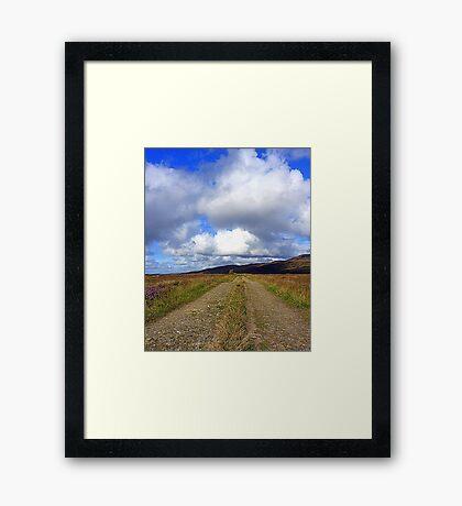The Irish Bog Road Framed Print
