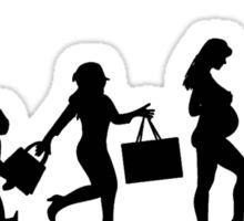 evelution of todays woman Sticker