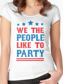 We the People Like to Party Women's Fitted Scoop T-Shirt