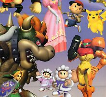 Nintendo Power Super Smash Bros Melee Poster by biscuitsarebest