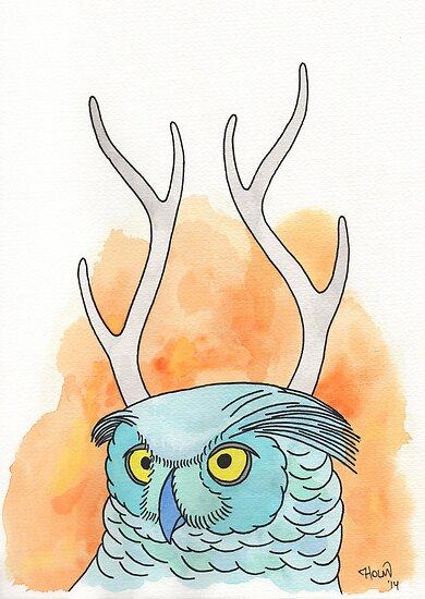 Horned owl by AndersHolmDK