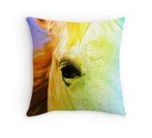 Rainbw Horse Throw Pillow
