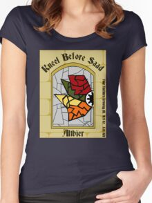 Kneel Before Saad Women's Fitted Scoop T-Shirt