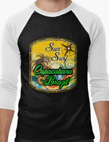 Brazil Fine Beach Men's Baseball ¾ T-Shirt