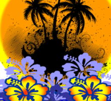 Florist Summer Island Sticker