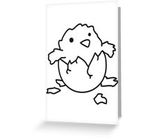 Newly hatched chicks Greeting Card