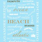 CAPE COD TYPOGRAPHY print by Elizabeth Thomas