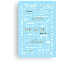CAPE COD TYPOGRAPHY print Canvas Print