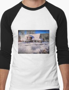Sunny day after a snow storm  Men's Baseball ¾ T-Shirt