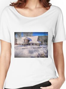 Sunny day after a snow storm  Women's Relaxed Fit T-Shirt