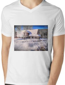 Sunny day after a snow storm  Mens V-Neck T-Shirt