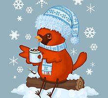 Christmas Cardinal by katiecrumpton