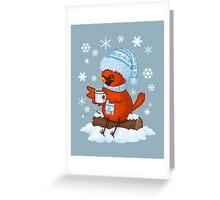 Christmas Cardinal Greeting Card