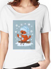 Christmas Cardinal Women's Relaxed Fit T-Shirt