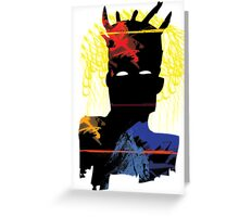 Abstract Basquiat Greeting Card