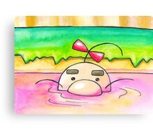 Hot Springs Mr Saturn Canvas Print