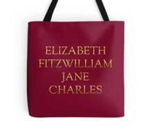 Characters from Pride & Prejudice Tote Bag