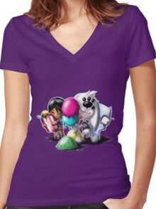 creative trio Women's Fitted V-Neck T-Shirt